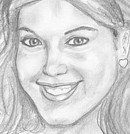 Pencil portrait, a really sweet California girl 
