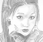 Pencil portrait; Joanna! 