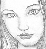 Pencil portrait; Joanna.