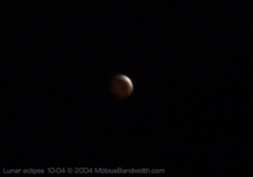 Lunar eclipse, October 2004. (enhanced)